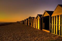 The sun sets.... (Sterling750) Tags: sea bw beach water long exposure dusk sony sigma hampshire pebble filter solent nd portsmouth southampton tone hdr slt mapped gosport leeonsolent a35 18200mm photomatix stubbington