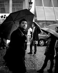 Is it still raining? (NOel Sissau) Tags: brussels blackandwhite rain umbrella bruxelles tourists brussel paraguas paraplu parapluie whereistherain