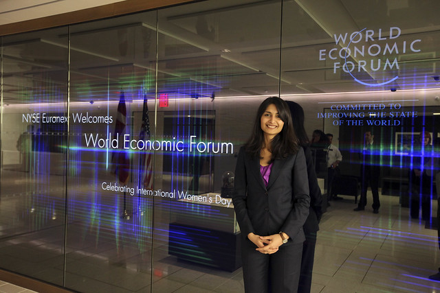 World Economic Forum visits New York Stock Exchange to mark International Women's Day 2012