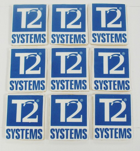 [Image from Flickr]:T2 Systems logo cookies