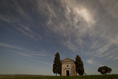 Back to the Vitaleta Chapel (Adrianosan Photo) Tags: trees sky sun nature clouds canon grain loveit tuscany valdorcia 2012 vitaleta samyang14mm adrianosanphoto