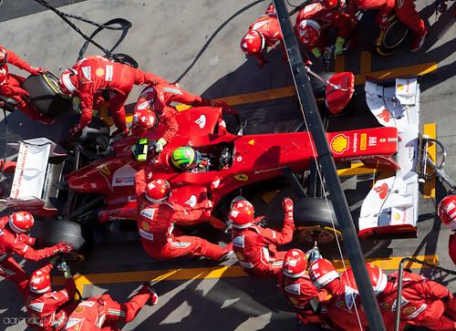 Felipe Massa Pit Stop
