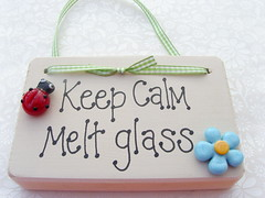 Keep Calm With Beads (Glittering Prize - Trudi) Tags: flower glass sign wooden calm ladybird keep melt