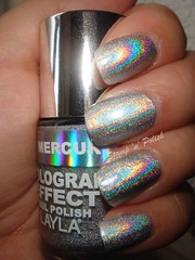 Layla Murcury Twilight vs Make Up Store Greta (stampnpolish) Tags: layla greta holographic makeupstore mercurytwilight