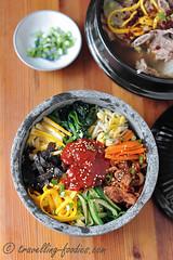 DSC_7485 s (travellingfoodies) Tags: seaweed korean carrot zucchini kimchi spinach bibimbap soyabeansprouts hansik eggyolkomelet gochujangsauce gyeranjidan
