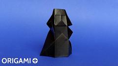 Origami Darth Vader in 5 minutes (origami.plus) Tags: diy starwars origami geek crafts darthvader tutorial