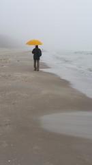 Lichtblick (Manuela Vierke) Tags: man beach strand germany deutschland balticsea insel mann rgen isle ostsee mrz regen binz mecklenburgvorpommern regenschirm 2016 meckpomm