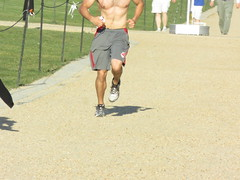 IMG_0734 (FOTOSinDC) Tags: shirtless hairy man muscles back arms arm legs candid chest leg handsome running sweaty sweat guns jogging runner jogger