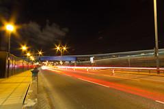 Roads of London (6 of 18) (johnlinford) Tags: city longexposure england urban london night landscape lights poplar unitedkingdom 7d gb docklands canonefs1022 canoneos7d
