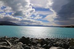 Threatening Clouds at Lake Pukaki (NZGandG) Tags: cloud lake mountains nz lakepukaki glaciallake
