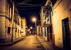 Where has everybody gone? (Ingeborg Ruyken) Tags: street city night dark flickr nacht balcony cuba stad dropbox donker straat 2016 camagey rondreis natuurfotografie 500pxs