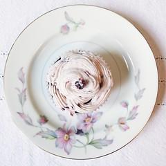 Hello cupcake (hexapetala) Tags: blackberry chocolate cupcake basil buttercream omnomnom