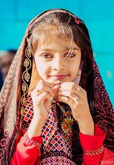 Mai Mela (Diego Dicarlo) Tags: travel blue red portrait people india color children indian culture gujarat mela
