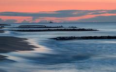 Sunrise in the distance (Tim from Pgh) Tags: longexposure seascape beach sunrise newjersey shore jerseyshore oceangrove oceanfront oceangrovenewjersey oceangrovesunrise newjerseysunrise longexposuresunrise pentaxk30