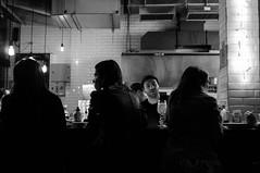 Aperol Spritz (renanluna) Tags: monocromia monochromatic pretoebranco blackandwhite pb bw sopaulo 011 sp br 55 fuji fujifilm fujifilmfinepixx100 x100 renanluna mulheres women bar aperol aperolspritz bebida drink noite night