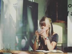 Vanilla chai latte ( les sans culottes ) Tags: love coffee girl beauty lady photography book women san francisco poem young latte distance chai