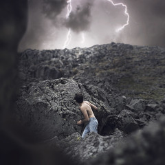 When everything started to fall (Nhoj Leunamme == Jhon Emmanuel) Tags: lighting portrait people storm nature clouds mexico nikon retrato fineart creative surreal stormy mexicanos imagination dreamy conceptual toluca nikonista rosiehardy