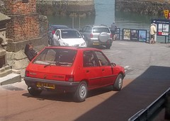 Scenic 205 (occama) Tags: old uk red car cornwall 1993 1994 peugeot 205 l834wrl