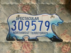 NORTHWEST TERRITORIES 2015 BLACK STICKER ---LICENSE PLATE #309579 (woody1778a) Tags: traders fortrade forsale northwestterritoriesarcticnwthistorichistorical northwestterritories canada licenseplate numberplate myhobby mytraders woody alpca