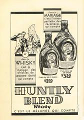 Huntly Blend Whisky (Sylvain Ménard) Tags: canada bride book montréal can québec whisky publicity livre publicité huntly 1930 mariée brandowpublishingcompany