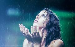 Summer rain (hispan.hun) Tags: blue light summer portrait sky woman green wet girl smile rain female canon vintage hair nude god sony pray longhair manual manualfocus fd canonfd portraitphotography portr sonyphotography hispanhu hispansphotoblog