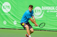 KPN Bangkok Open ATP Challenger Tour 2016 (Chatimage) Tags: world man game male sport ball thailand concentration play open action top champion competition grand victoria player class professional tennis tournament international pro editorial czechrepublic quarter match practice win kpn athlete score racket federation serve backhand compete 2016 forehand adampavlasek