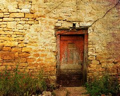 knock, knock there is still living someone here (kelsk (having a break)) Tags: door old france texture frankrijk tarn deur amiel motat midipyrenees textuur tatot magicunicornverybest magicunicornmasterpiece kelskphotography