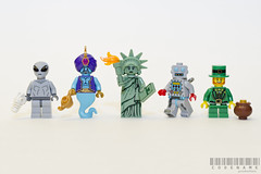 313/365 (_Codename_) Tags: white lamp toy toys robot gun lego alien collection flame torch statueofliberty minifigs genie leprechaun minifigure potofgold magiclamp minifigures series6 365project