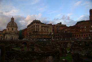 Roma vista desde el Foro de Trajano