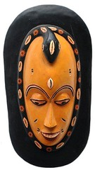 10Y_0904 (Kachile) Tags: art mask african tribal côtedivoire primitive ivorycoast gouro baoulé nativebaoulémasksaremainlyanthropomorphicmeaningtheydepicthumanfacestypicallytheyarenarrowandfemininelookingincomparisontomasksofotherethnicitiesoftenfeaturenohairatallbaouléfacemasksaremostlyadornedwithvarioustrad