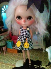 Lucca looks cute in her new dress