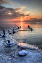 Icy Lake (thomm.brauchle) Tags: sunset lake sunrise canon frozen structures ii 5d icy bodensee 4l constance mk friedrichshafen 24105 fischbach meersburg ried immenstaad langenargen eriskirch eriskircher