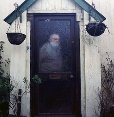 WHO,S THERE (martyn61) Tags: door house 120 film 50mm kodak flektogon f4 colum pentaconsix ektar carlzeiss