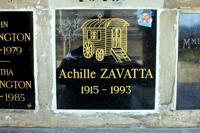 Columbarium of ACHILLE ZAVATTA (1915-1993) - French clown, artist and circus operator, Freemason in the Grande Loge of France
