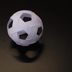 Greek ball (Mammaoca2008) Tags: ball paper origami sepaktakraw stardome paperstrips