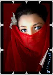 Red (Barbynikon) Tags: red woman sexy rot eye girl beautiful d50 donna reflex model nikon colore foto gente image digitale sigma occhi sguardo bella root rosso reddress bellezza ragazza bello sguardi posa modella sensuale rossoferrari