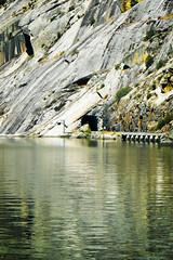 Escarpa (Tiago Alves Miranda) Tags: portugal blog track dam railway tunnel via barragem linha tnel linhadodouro barragemdavaleira tiagoalvesmiranda p69961