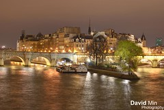 Paris, France - Ile de la Cit (GlobeTrotter 2000) Tags: travel bridge light paris france love tourism saint seine night river de louis la europe cityscape cit arts ile visit des pont notre dame romatic