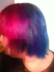 (Ty-Erin-Saurus Rex) Tags: portrait pinkhair bluehair purplehair manicpanic rainbowhair multicoloredhair iphoneography