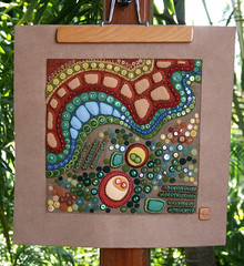 My view of your world (a little bit of just because) Tags: beads embroidery sewing felt sequins handstitched textileart