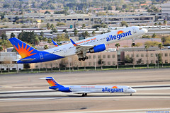 How About That? - McCarran Int'l Airport, NV  USA (gTarded) Tags: las airport lasvegas landing boeing arrival airlines departure takeoff klas 757 mccarran mcdonnelldouglas b757 aay md83 allegiant n863ga n902nv travelisourdeal