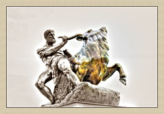 ~~~~taurus~~~~ (amdolu) Tags: sepia schloss schlossgarten schwerin colourkey dramatictonemapped amdolu ringexcellence kriesmann