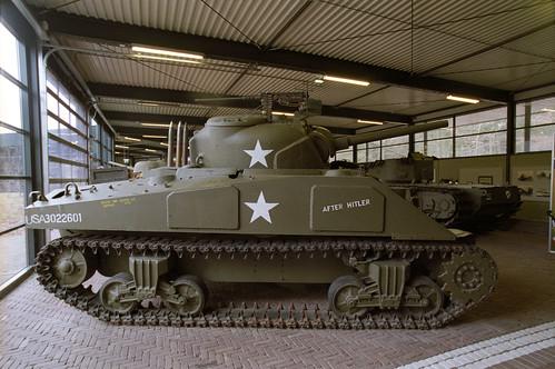 speelgoed sherman tank