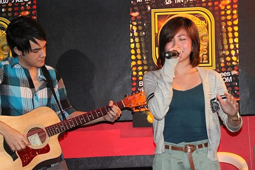 Nominee Yeng Constantino performs during MMA 2012 announcement of nominees (photo by Allan Sancon) [1]