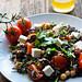 Mediterranean salad with wild rice