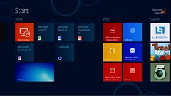 Windows 8 on ARM - Startbildschirm mit den Office-15-Kacheln