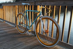 Miyata 312 (alex.j.cao) Tags: green gold hipster mint gear fixed pbr fixie miyata anodized