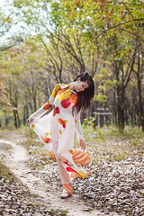 Walking in rubber plantation 02 - Do chi trong rng cao su (Andy Le | +84908231181) Tags: road cute beautiful smile lady female walking asian woods long vietnamese dress traditional rubber vietnam teen plantation lovely aodai junger