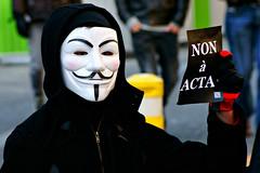 Contre la loi ACTA (dprezat) Tags: street people paris contest internet protest guyfawkes v hacker anonymous bastille marche manifestation vendetta opposition fawkes acta rassemblement protestation sonyalpha700 nonàacta streetevents:id=69