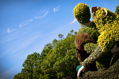 The Look of Love (Scott Smith (SRisonS)) Tags: france love epcot topiary florida pavilion waltdisneyworld sleepingbeauty skywriting worldshowcase princephillip flowergardenfestival princessaurora